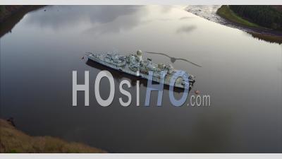 Graveyard Of Ships In Landévennec - Video Drone Footage