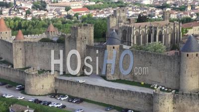 Cité De Carcassonne Par Drone