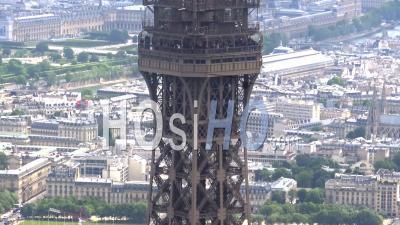 Panoramique Circulaire De La Tour Eiffel Par Hélicoptère