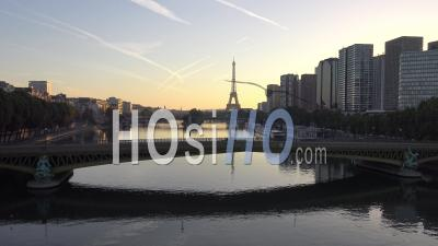 Paris At Dawn - Video Drone Footage