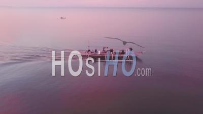 Philippino Fishermen Early In The Morning - Video Drone Footage
