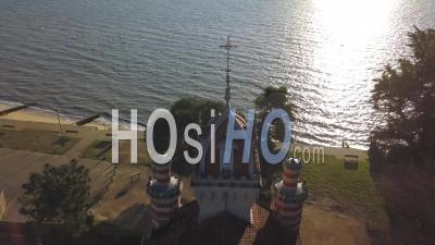 Vue Aérienne, Chapelle Sainte-Marie Du Cap, Herbe Village, Villa Algérienne, Cap Ferret - Vidéo Drone