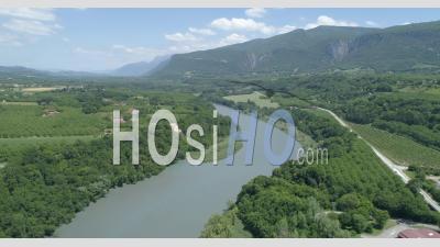 Isère à Beauvoir-En-Royans, Vue D'un Drone