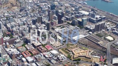 Cape Town City Centre Filmed By Helicopter