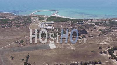 Robben Island, Cape Town Filmé Par Hélicoptère