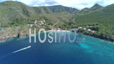 Anses Dufour And Anse Noire In Martinique By Drone - Drone Point Of View