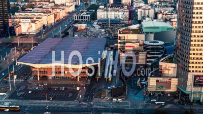 Warszawa Centralna Train Station, Warsaw, Warszawa - Video Drone Footage
