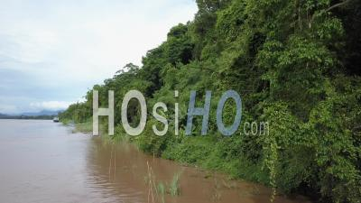 Mekong River Banks, Drone Footage
