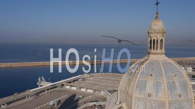Marseille Cathedral Notre-Dame De La Major, Marseille, France - Video Drone Footage