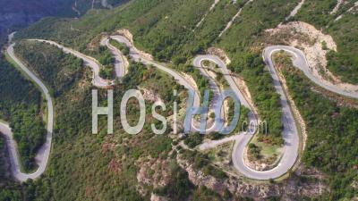 Mountain Road, Sainte-Baume - Video Drone Footage