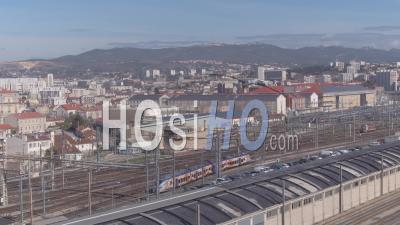 Marseille Saint-Charles Train Station - Video Drone Footage