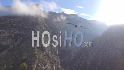 Entrée Des Gorges Du Verdon En Automne- Vidéo Drone