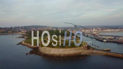 Northe Fort Weymouth Dorset Drone Vidéo Angleterre Du Sud - Vidéo Drone