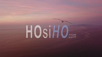 Navire Naval Weymouth Dorset Sunset Drone Vidéo Angleterre Du Sud - Vidéo Drone