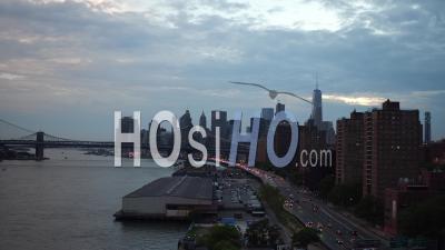 Photo Aérienne Panoramique Face à La Pointe Sud De Manhattan - Vidéo Drone