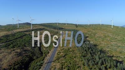 Parc éolien Énergie électrique Durable - Drone - Île De Madère Vidéo Portugal - Vidéo Drone