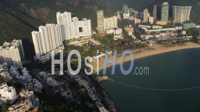 Hong Kong Birdseye Vue Voler Autour De La Région De Repulse Bay. - Vidéo Drone