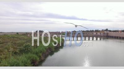 Morelos Dam Drone Vidéo Yuma County Arizona Us Mexique Frontière