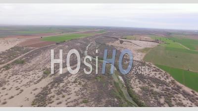 Colorado River Drone Vidéo Comté De Yuma, Arizona, États-Unis, Frontière Mexicaine - Vidéo Drone