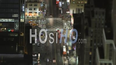 Nyc New York, États-Unis, Laps De Temps Panoramique Entre Les 34e Et 8e Positions à L'aide D'un Objectif Tilt-Shift - Vidéo Drone