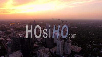 Midtown Cityscape Atlanta Georgia Usa - Vidéo Drone