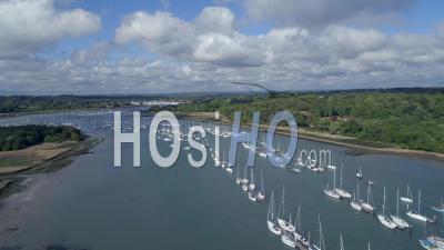 Port Hamble Marina Southampton Angleterre - Vidéo Drone