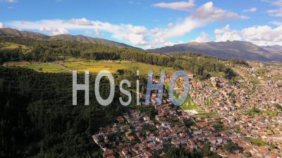 Historical Andes City Of Cusco Peru - Video Drone Footage