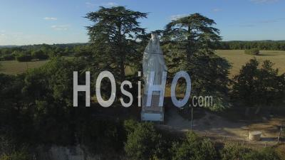 The Holy Virgin Mary Statue, Seen By Drone