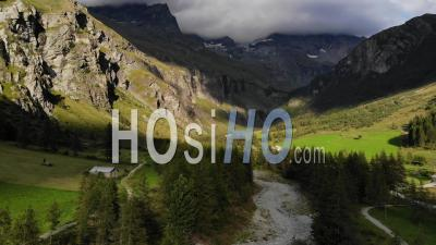Valley Of Rosuel Peisey-Vallandry At Summer Season