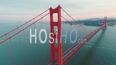 Golden Gate Bridge San Francisco California - Video Drone Footage
