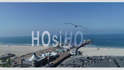 Great View Of The Attractions At Santa Monica Pier.