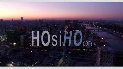 La Seine Au Crépuscule À Paris 13ème, Vidéo Drone - Vidéo Drone