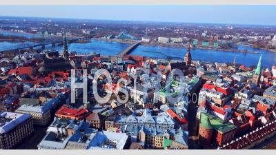 Riga, Lettonie- Vidéo Drone