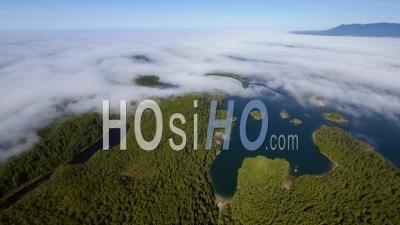 Fog Over Effingham Island Barkley Sound West Coast Vancouver Island Bc