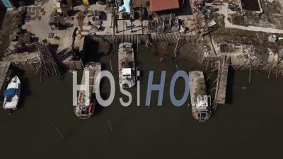 Oyster Port Of La Teste, Video Drone Footage