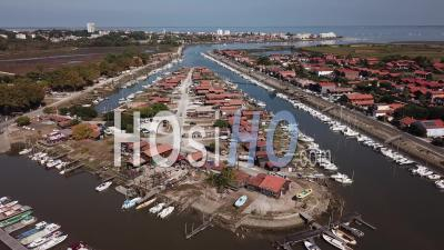 Oyster Port Of La Teste, Drone Point Of View