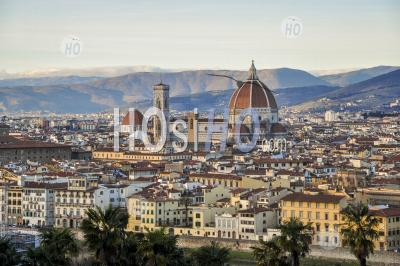 Cathédrale De Florence Dans La Capitale De La Région Italienne De La Toscane, En Italie. - Photographie Aérienne