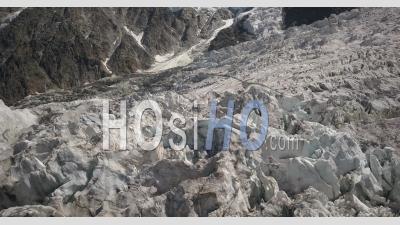 Glacier Des Bossons Et La Jonction - Le Point De Vue D'un Drone