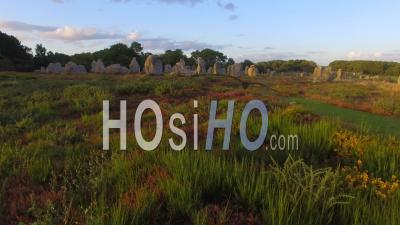 The Alignments Of Kermario In Carnac - Video Drone Footage