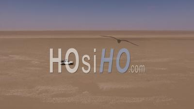White Pick Up, Conduite à Droite Sur Le Sable, Désert De Namib