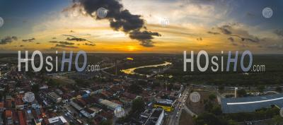 Sanhaua River In Centro Historico Of Joao Pessoa Paraiba Brazil - Aerial Photography