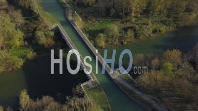 Pont Canal, Canal Des Deux Mers, Lot Et Garonne, Agennais, Lot Et Garonne- Vidéo Drone