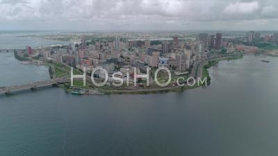 Plateau In Abidjan, Video Drone Footage
