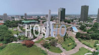 St. Paul's Cathedral In Plateau District In Abidjan, Video Drone Footage