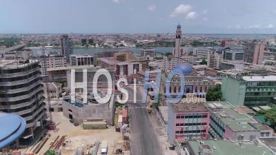 The Mosque Of The Plateau In Abidjan, Video Drone Footage