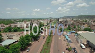Bougie Roundabout In Bamako, Video Drone Footage