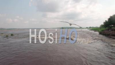 The Congo And Rapids In Brazzaville, Video Drone Footage