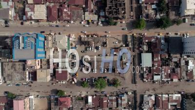 Topshot City Of Cotonou, Video Drone Footage