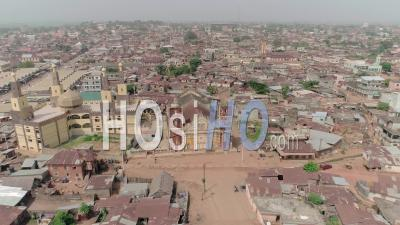 The Mosque Of Porto Novo In Cotonou, Video Drone Footage