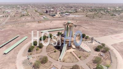 The National Heroes Monument In Ouagadougou, Video Drone Footage